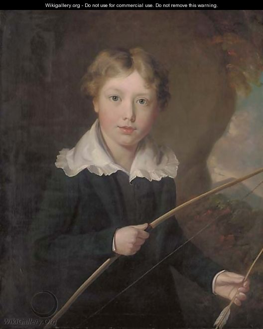 Portrait of a young boy - William J. Pringle