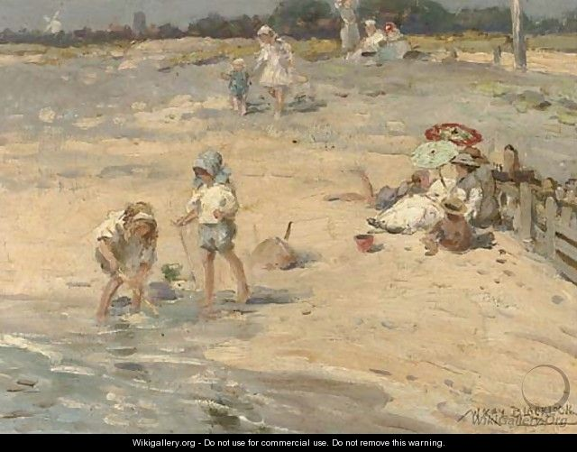 Building castles in the sand - William Kay Blacklock