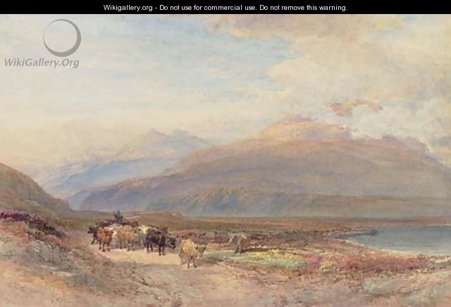 Droving cattle in the Scottish highlands - William Leighton Leitch