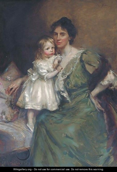 Portrait of a mother and daughter - William Findlay