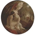 Two female nudes in a wood - William Etty
