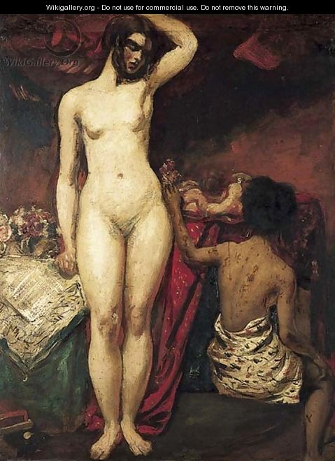 Female nudes in an interior - William Etty