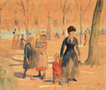 In the Park (Washington Square) - William Glackens