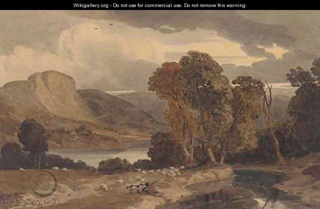 The Lake District, early evening - William Havell