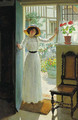 At the cottage door - William Henry Margetson