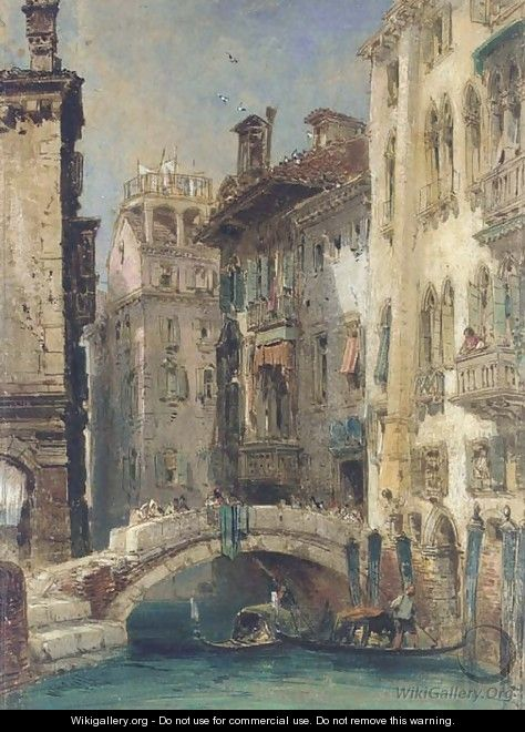 View of a canal, Venice - William Callow