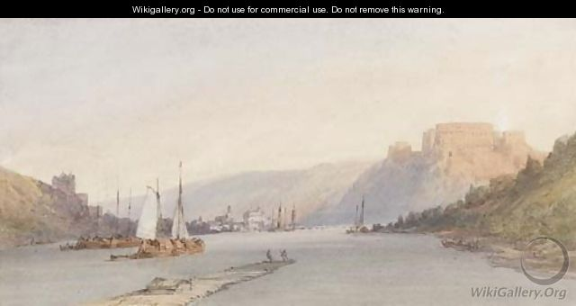 Ehrenbreitstein on the Rhine - William Callow