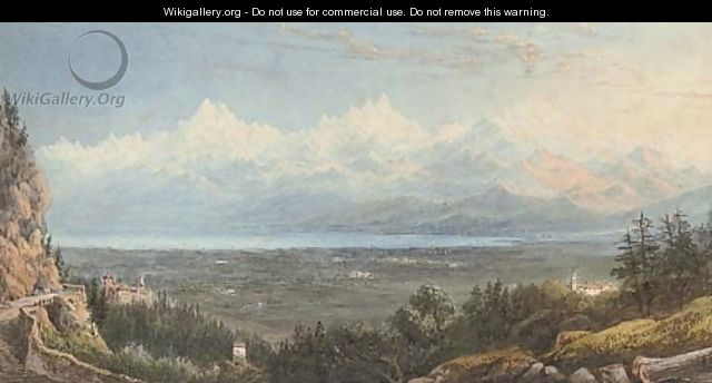 View of Mont Blanc - William Crouch