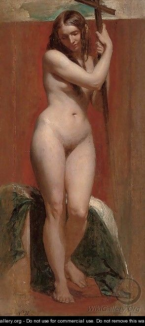 Standing female nude - William Edward Frost