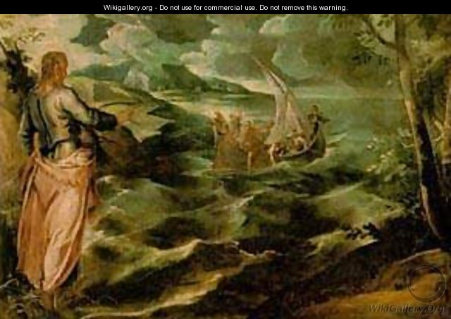 Christ At The Sea Of Galilee 1575-80 - Jacopo Tintoretto (Robusti)