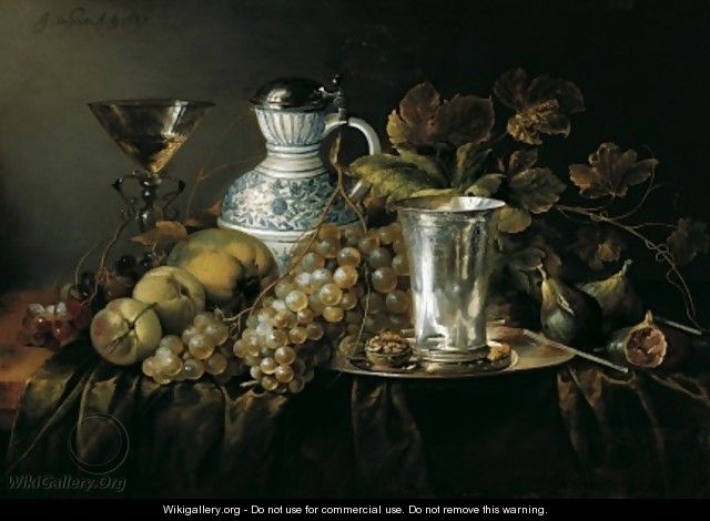 Fruit Still Life with a Silver Beaker 1648 2 - Jan Davidsz. De Heem