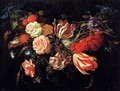Festoon with Flowers and Fruit 1660s - Jan Davidsz. De Heem