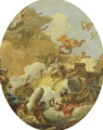 The Apotheosis of the Spanish Monarchy sketch for a ceiling painting2 - Giovanni Battista Tiepolo