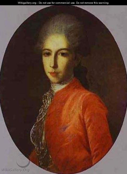 Portrait Of Prince Ivan Bariatinsky As A Youth 1780s - Fedor Rokotov