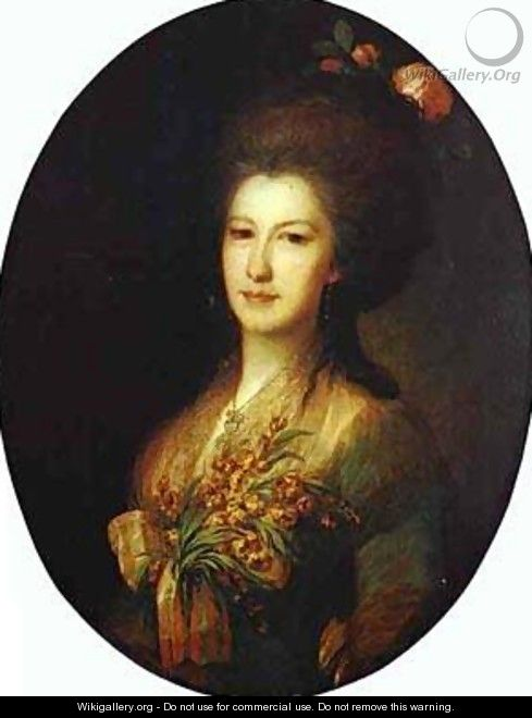 Portrait Of Countess Elizaveta Santi 1785 - Fedor Rokotov