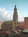 The North Dutch Church Fulton and William Streets New York 1869 - Edward Lamson Henry