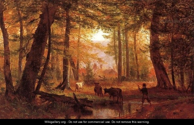 Crossing the Stream 1867 - Thomas Worthington Whittredge