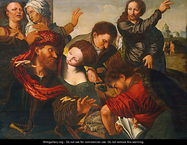 The Calling of Matthew - Jan Sanders Van Hemessen