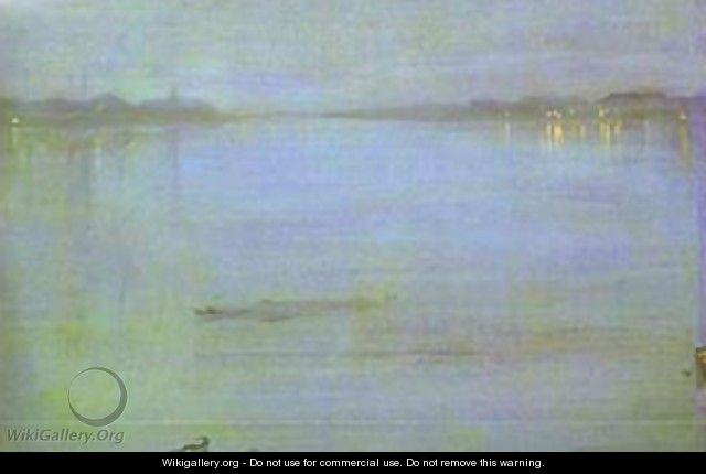 Nocturne Blue And Silver Cremorne Lights 1872 - James Abbott McNeill Whistler