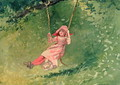 Girl on a Swing 2 - Winslow Homer