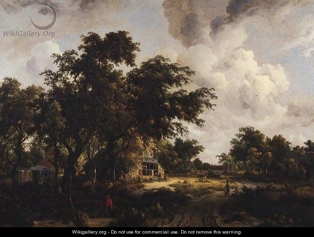 Village with Water Mill Among Tree 1660-1670 - Meindert Hobbema
