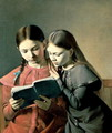 The Artist's Sisters Signe and Henriette Reading a Book 1826 - Constantin Hansen