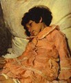 Portrait Of Nadya Repina The Artists Daughter 1881 - Ilya Efimovich Efimovich Repin