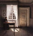 Interior With a Sewing Machine - Vilhelm Hammershoi