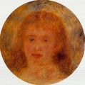 Womans Head (aka Jeanne Samary) 1877 - Pierre Auguste Renoir