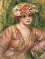 The Rose Hat or Portrait of Lady Hessling - Pierre Auguste Renoir