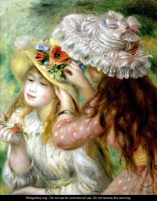 Summer Hats - Pierre Auguste Renoir