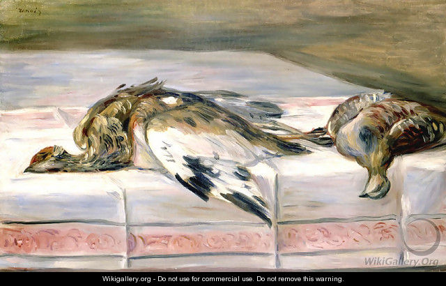 Auguste Renoir Still Life. Still Life with Pheasant and