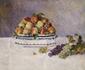 Still Life with Peaches and Grapes 1881 - Pierre Auguste Renoir