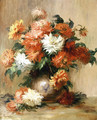 Still Life with Dahlias - Pierre Auguste Renoir