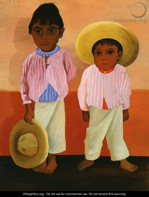 My Godfathers Sons Portrait of Modesto and Jesus Sanchez (Los hijos de mi compadre Retratos de Modesto y Jesus Sanchez) 1930 - Diego Rivera