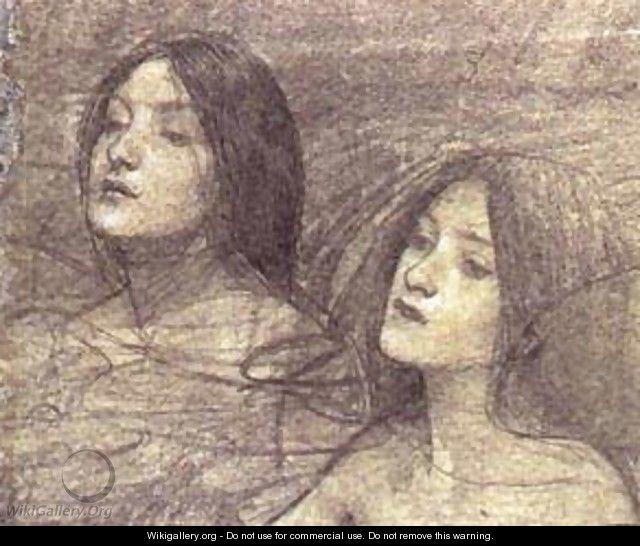 Hylas And The Nymphs Study - Alexei Alexeivich Harlamoff