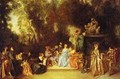 Party In The Open Air 1718-20 - Jean-Antoine Watteau