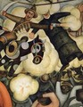 The Burning of the Judases Detail 1923 to 24 - Diego Rivera