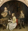 The Concert Singer and Theorbo Player - Gerard Terborch