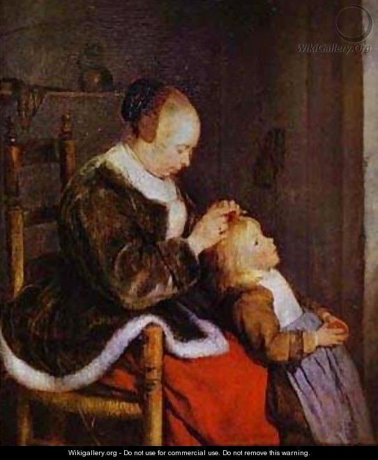 Motherly Care 1654 - Gerard Terborch