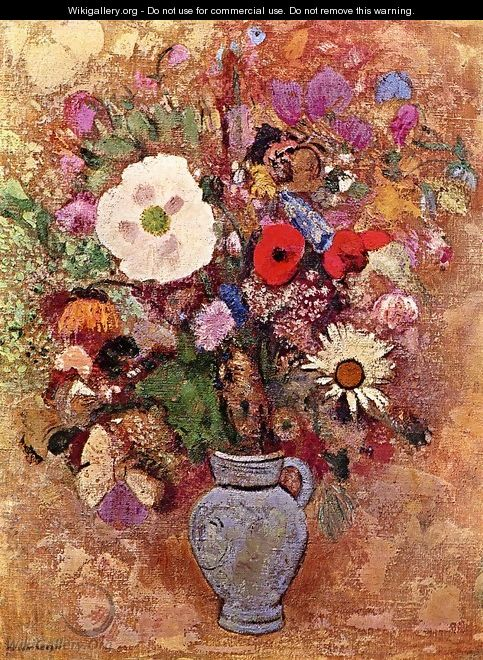 Vase of Flowers 1903-1905 - Odilon Redon