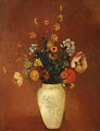 Bouquet in a Chinese Vase - Odilon Redon