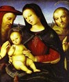 Madonna With The Christ Child Blessing And St Jerome And St Francis (Von Der Ropp Madonna) 1502 - Raphael