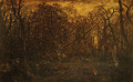 The Forest in Winter at Sunset 1845 - Allan Ramsay