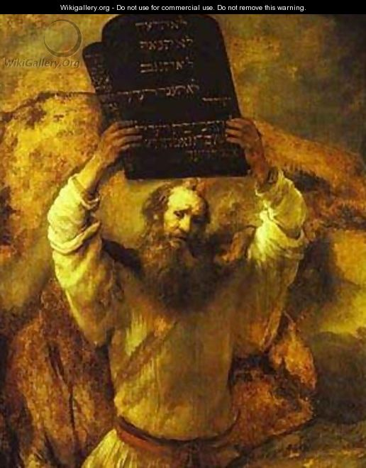 Moses Smashing The Tables Of The Law 1659 - Harmenszoon van Rijn Rembrandt