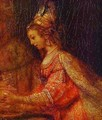 Esther Detail Of Assuerus Haman And Esther 1660 - Harmenszoon van Rijn Rembrandt