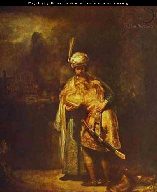 Departing Of David And Jonathan 1642 - Harmenszoon van Rijn Rembrandt