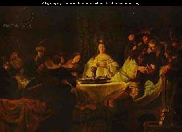 Samson Putting Forth His Riddles At The Wedding Feast 1638 - Harmenszoon van Rijn Rembrandt