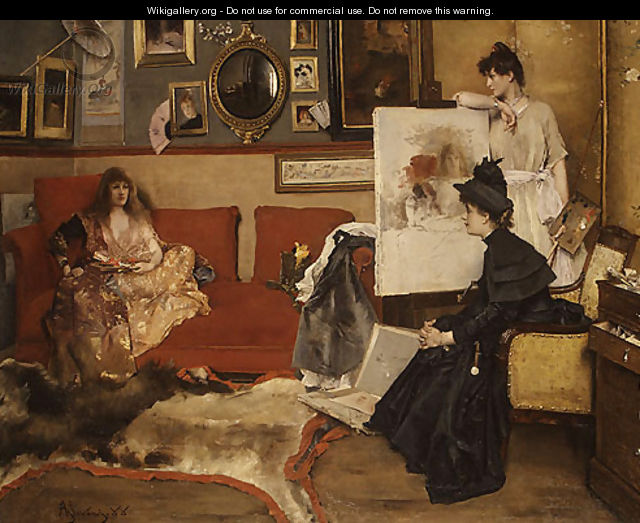 In the Studio 1888 - Alfred Stevens