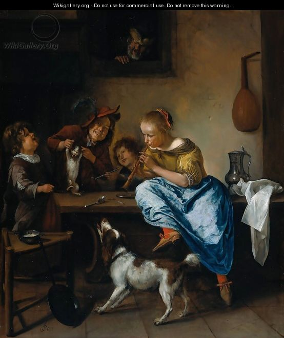 The Dancing Lesson - Jan Steen